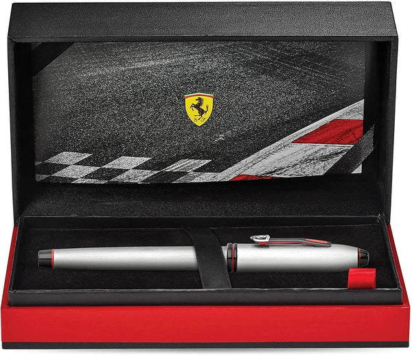 Cross Townsend Collection for Scuderia Ferrari Brushed Aluminum Ballpoint Pen