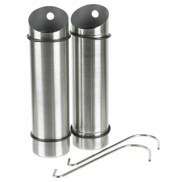 2Pc Stainless Steel Hanging Compact Radiator & Shower Humidifier Set