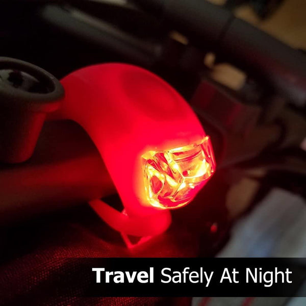 Silicone Mountain Bicycle Front Rear Led Lights Set