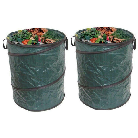 Pop Up Garden Waste Refuse Rubbish Bags | Heavy Duty, Large & Strong (Set Of 2)