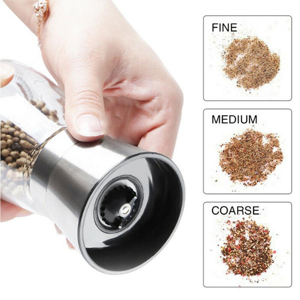 Stainless Steel Salt and Pepper Grinder