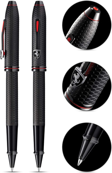 Cross Scuderia Ferrari Townsend Rollerball Pen - Brushed Black Etched Honeycomb