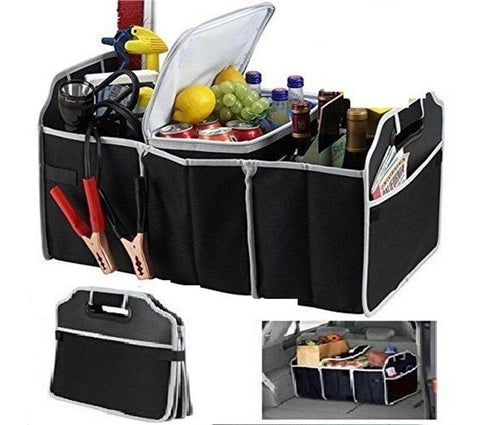 Collapsible Car Boot Organiser with Removable Cooler Bag
