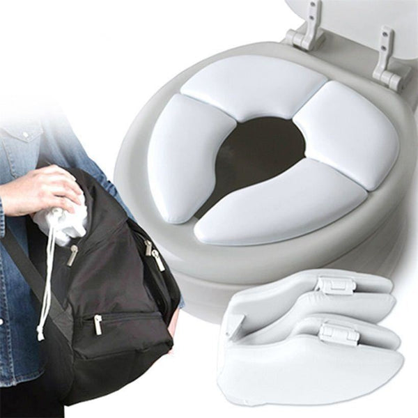 Baby Toddler Travel Potty Cushion Kids Padded Toilet Training Seat Folding Trading Innovation