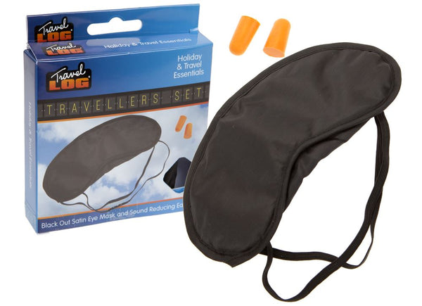 Soft Padded Blindfold Eye Mask Travel Rest Sleep Aid Shade Cover Unisex EARPLUGS Trading Innovation