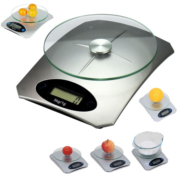 5KG Digital Electronic Glass Kitchen Cooking Food Parcel Postal Weighing Scales Trading Innovation