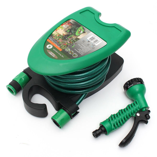 10 Meter Water Hose Pipe with Two Hose Connectors, Tap Adaptor