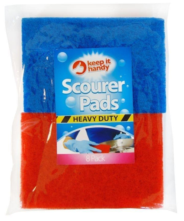 Washing Up Scourer Pads - Pack Of 8 - Assorted Colours