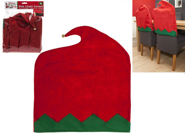 2Pcs Christmas Chair Cover