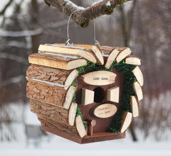 Wooden Hanging Nesting Bird House