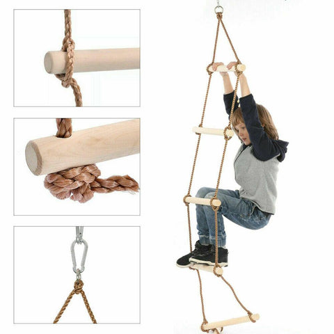 Kids Wooden Rope Ladder