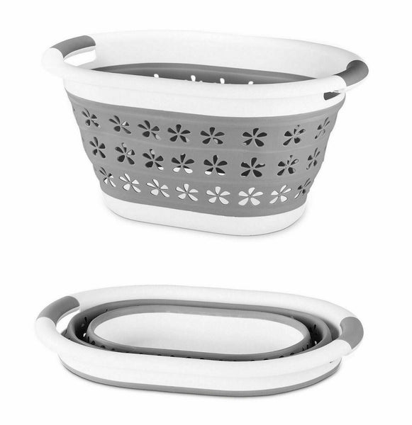 Space-Smart Foldable Laundry Basket with Ventilation Holes