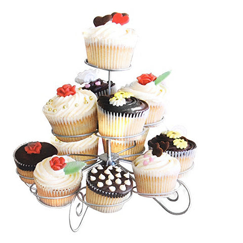 3 Tier Metal Cupcake Stand