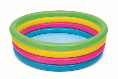 "70"" Giant Round Inflatable Rainbow Swimming Pool"