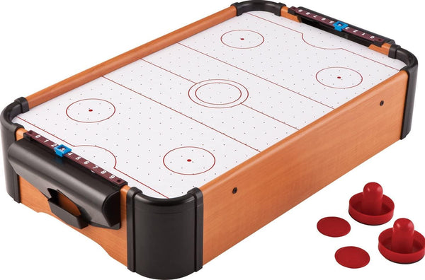 Battery-Operated Air Hockey Table with Pusher and Puck