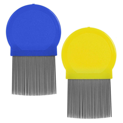 Round Metal Fine Nit Lice Hair Comb