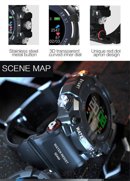 MAX-Shock Reloj inteligente Bluetooth compatible con Android Y iOS - DAMASQUI ®