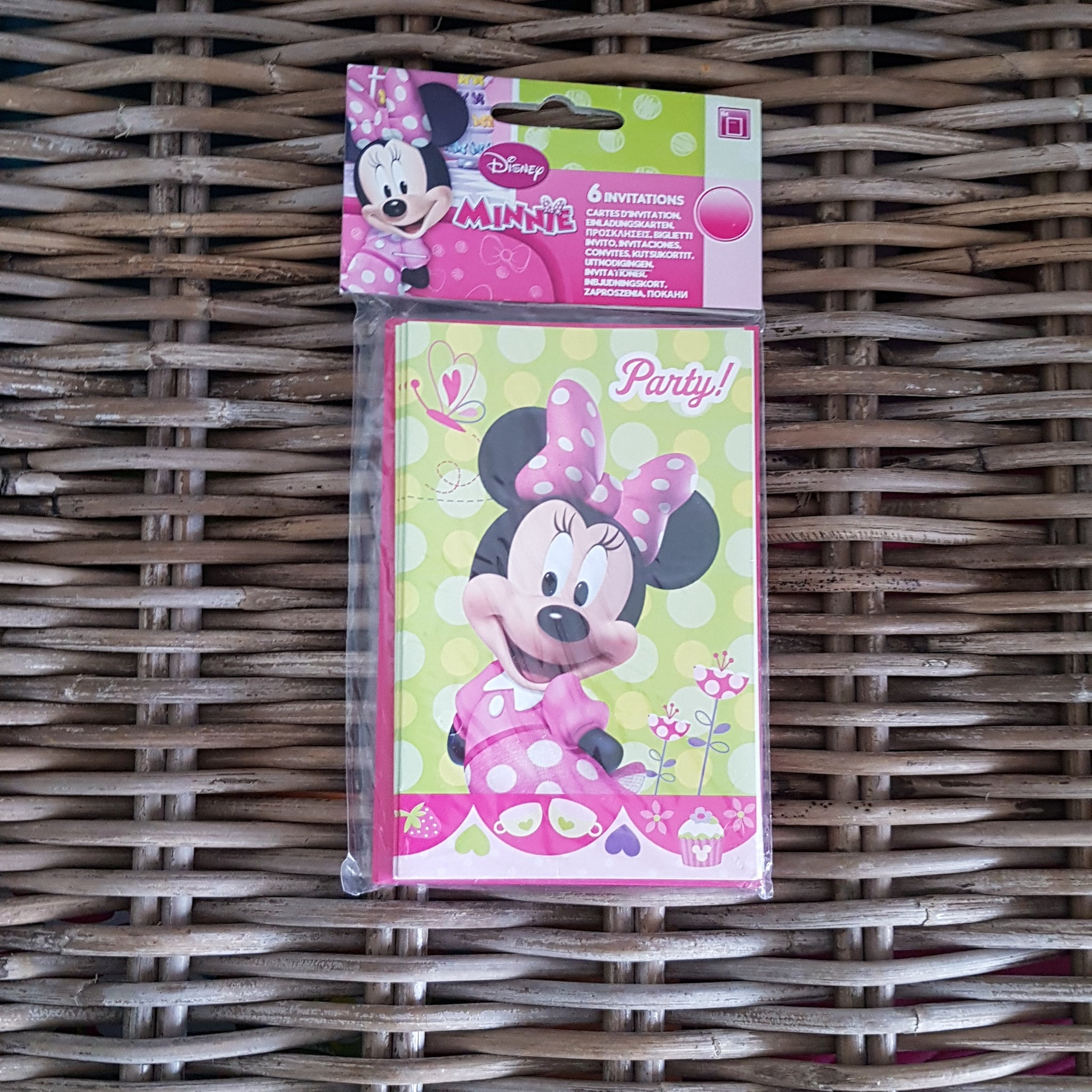 DISNEY - Lot de 6 cartes d'invitation Minnie & enveloppes