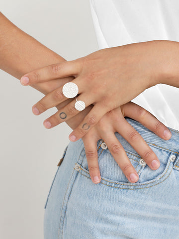 Big Round Ring - Silver