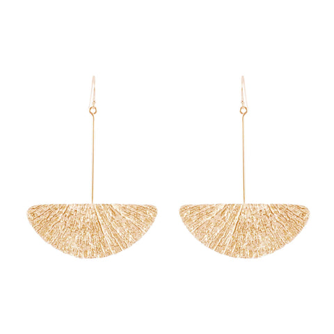 Large Fan Earrings, Rose Gold