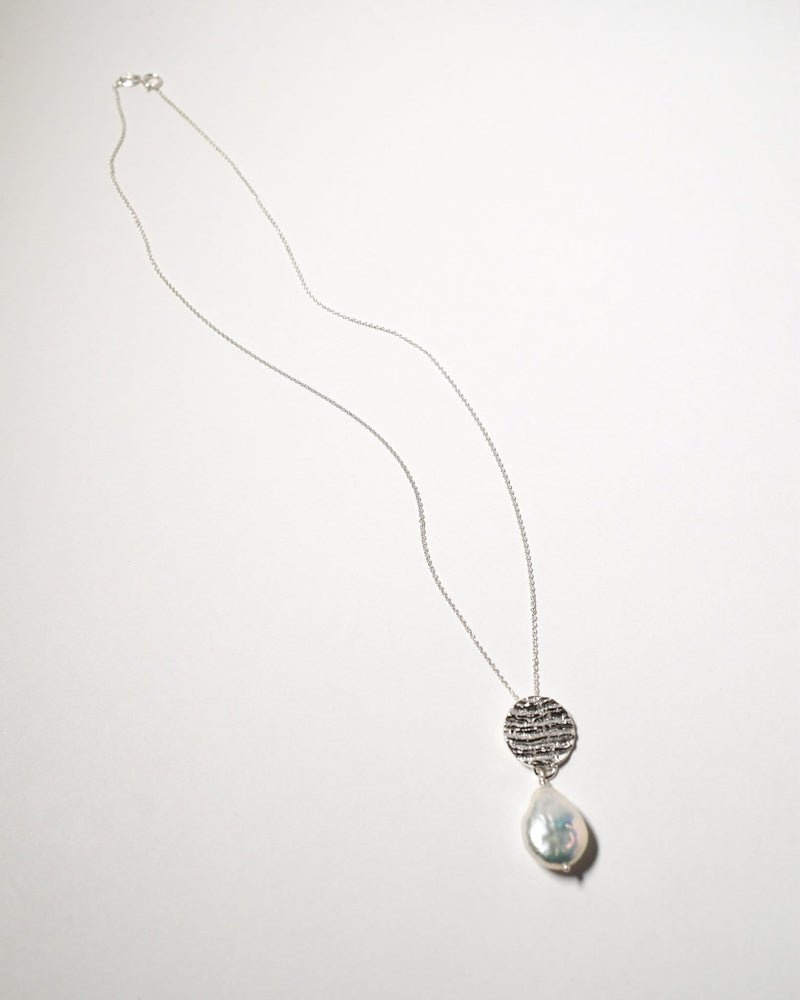 Kutti Pearl Necklace, Sterling Silver