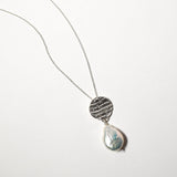 Tear Drop Pearl Necklace, Sterling Silver