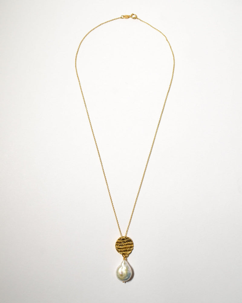Kutti Pearl Necklace, Yellow Gold Plate