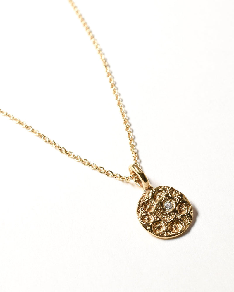 Diamond Birthstone Necklace - April - Yellow Gold
