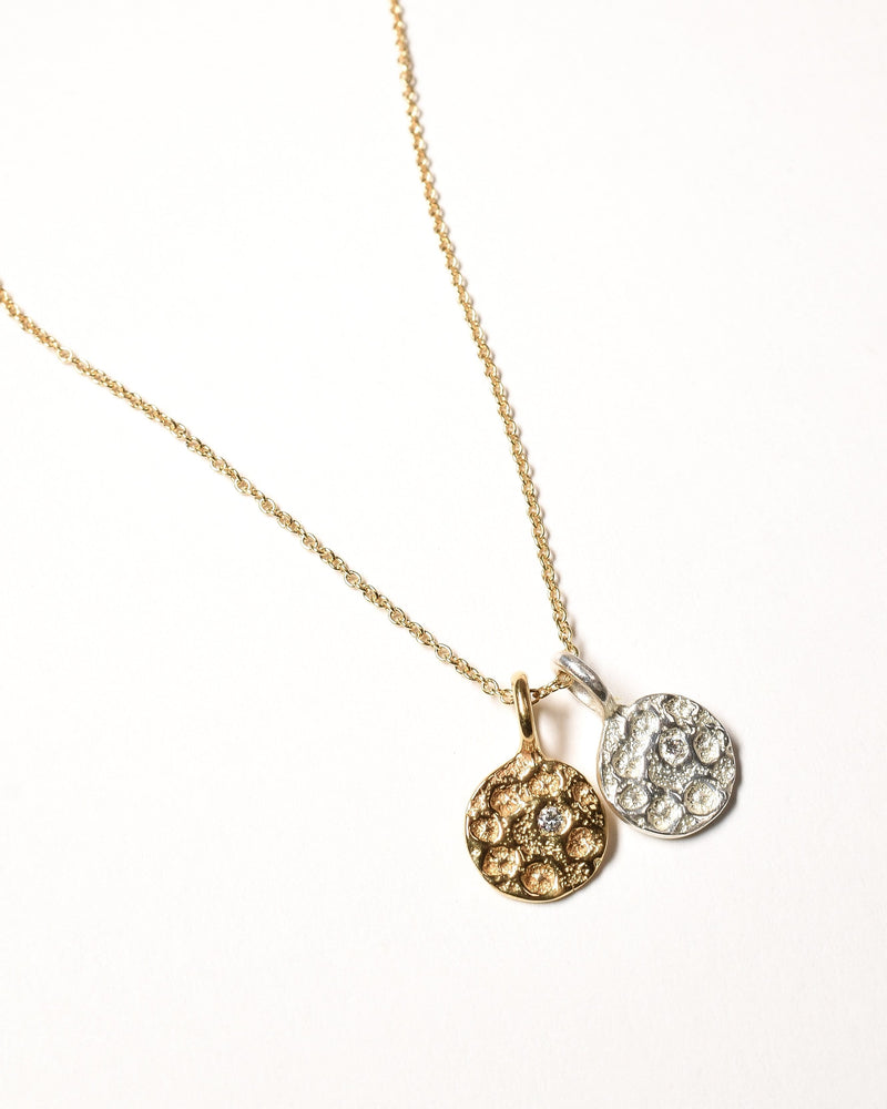 Diamond Birthstone Necklace - April - Sterling Silver