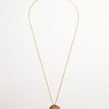 Dotty Disc Necklace, Yellow Gold