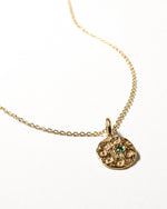 Emerald Birthstone Necklace - May - Yellow Gold