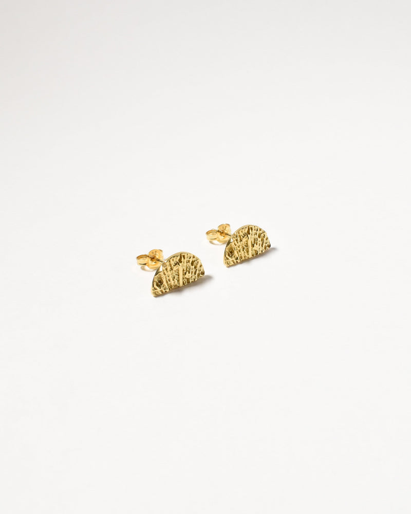 Fan Studs, Yellow Gold