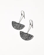 Bronte Earrings, Oxidised Sterling Silver