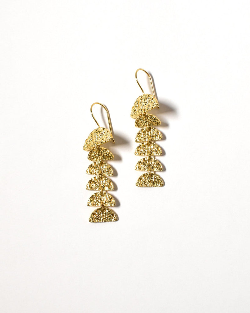 Elouera Earrings, Yellow Gold Plated