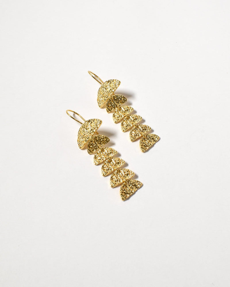 Long Fan Drops, Yellow Gold