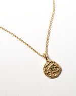 Peridot Birthstone Necklace - August - Yellow Gold