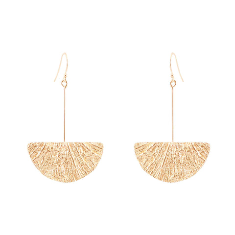Fan Earrings, Rose Gold
