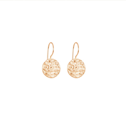 Small Disk Earrings, Rose Gold
