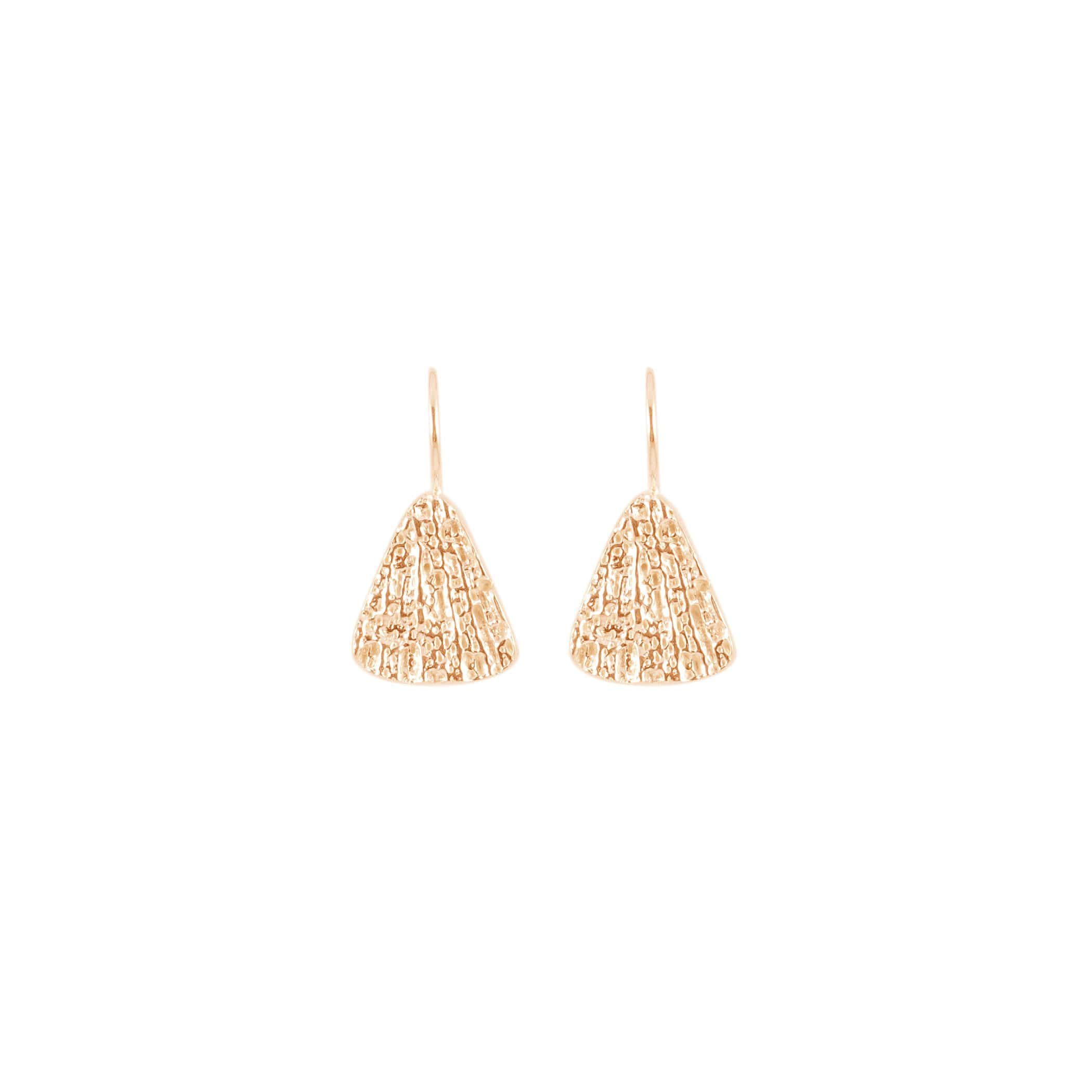 Small Triangle Earrings, Rose Gold