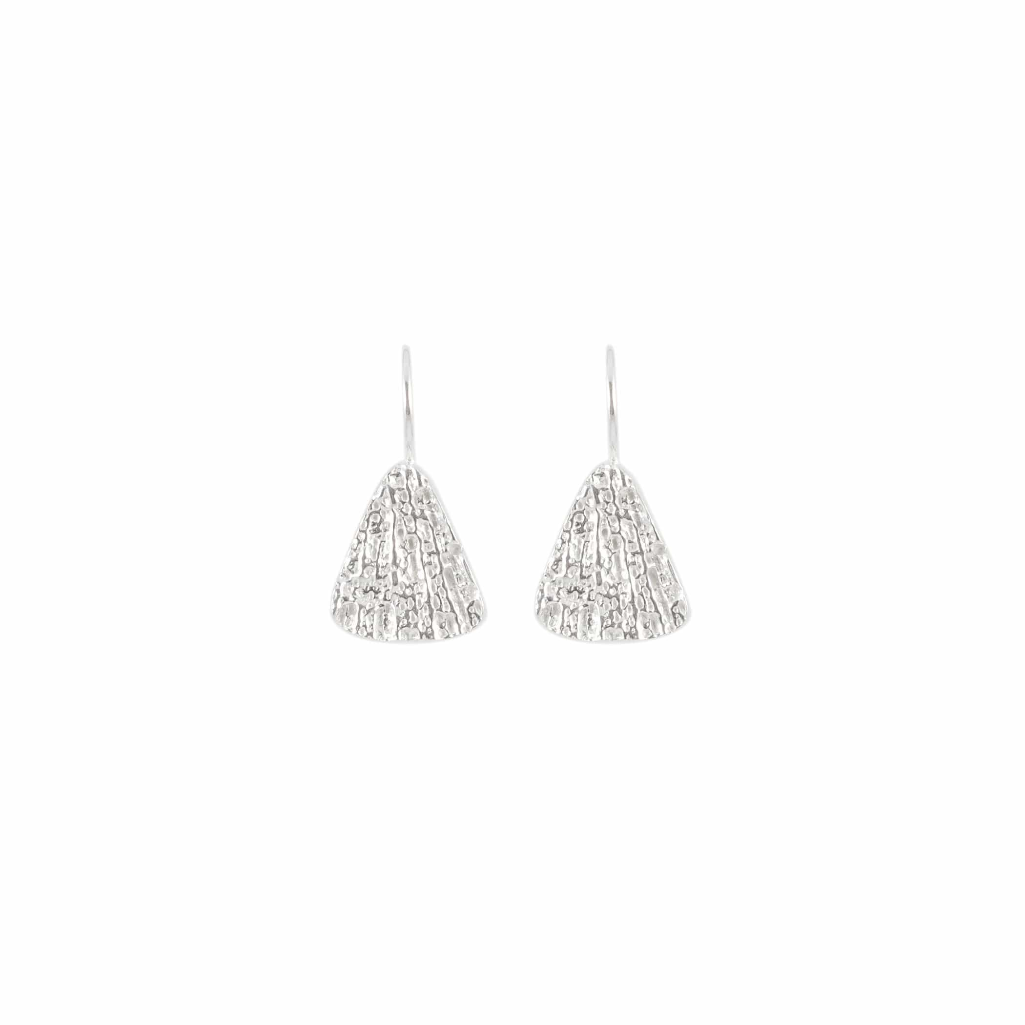Small Triangle Earrings, Sterling Silver
