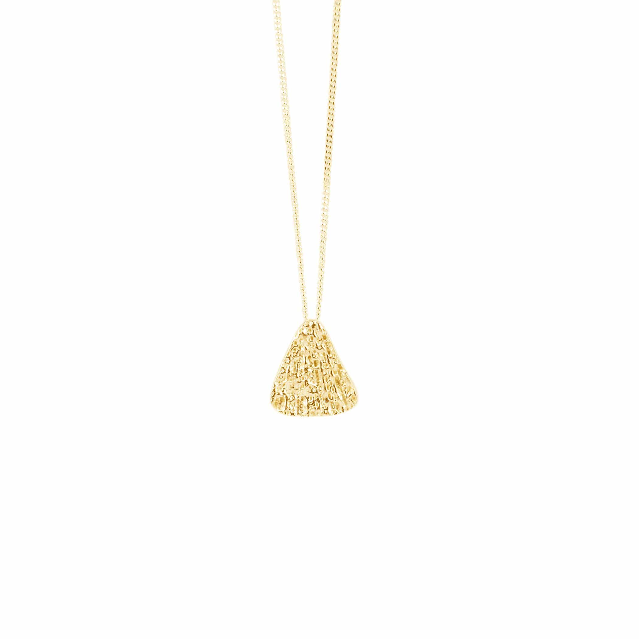 Small Triangle Pendant, Yellow Gold