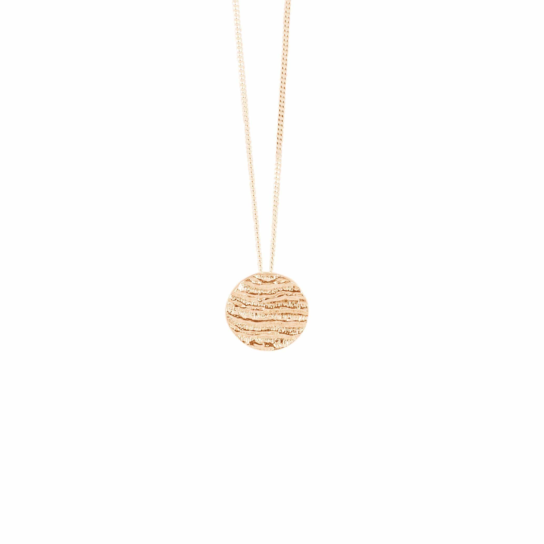 Small Disk Pendant, Rose Gold