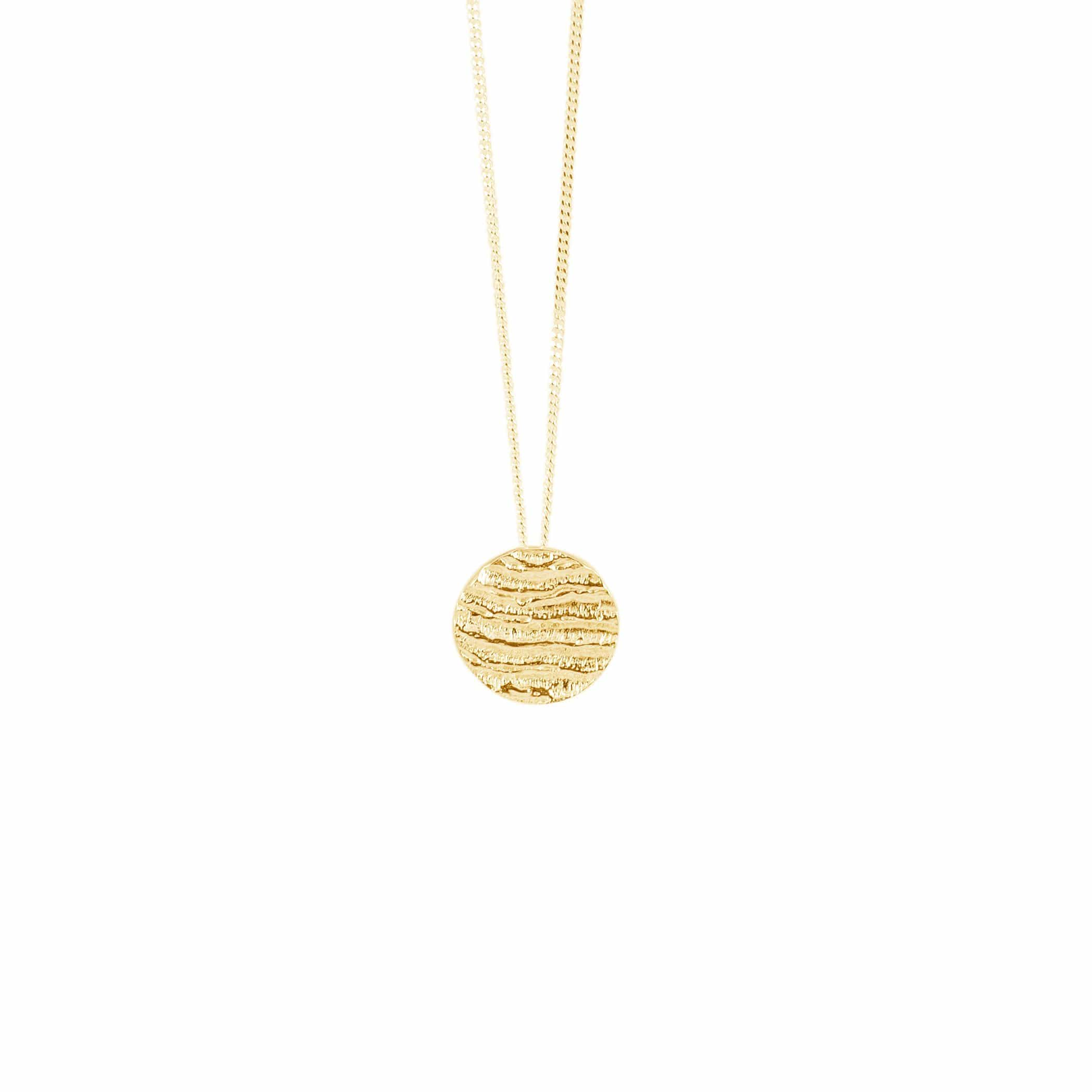 Small Disk Pendant, Yellow Gold