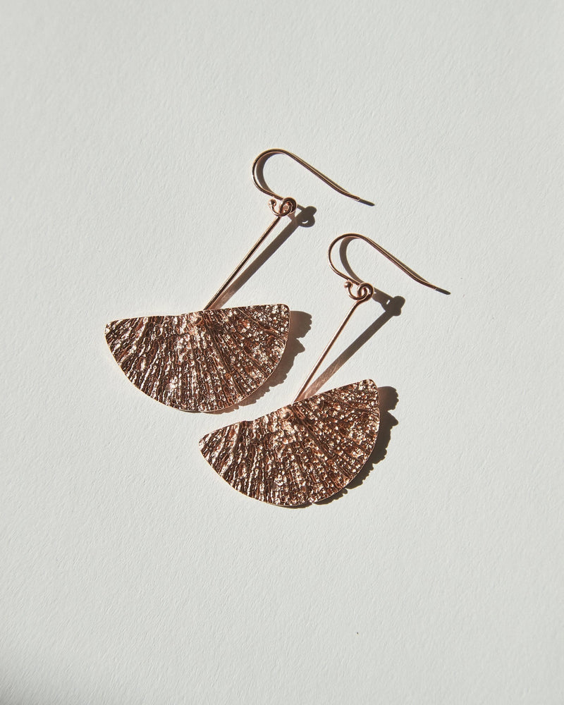 Bronte Earrings, Rose Gold Plated