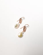 Kutti Pearl Earrings, Rose Gold Plated