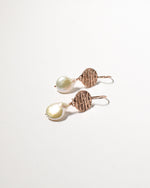 Tear Drop Pearl Earrings, Rose Gold Plated