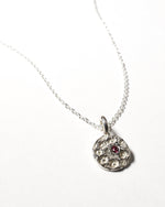 Ruby Birthstone Necklace - July - Sterling Silver