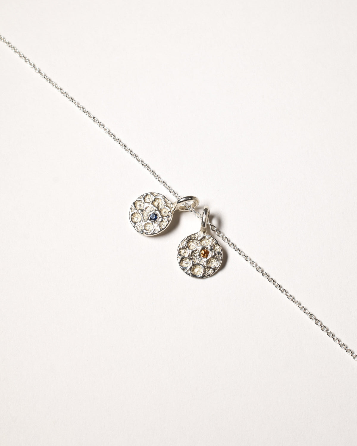 Sapphire Birthstone Necklace - September - Sterling Silver