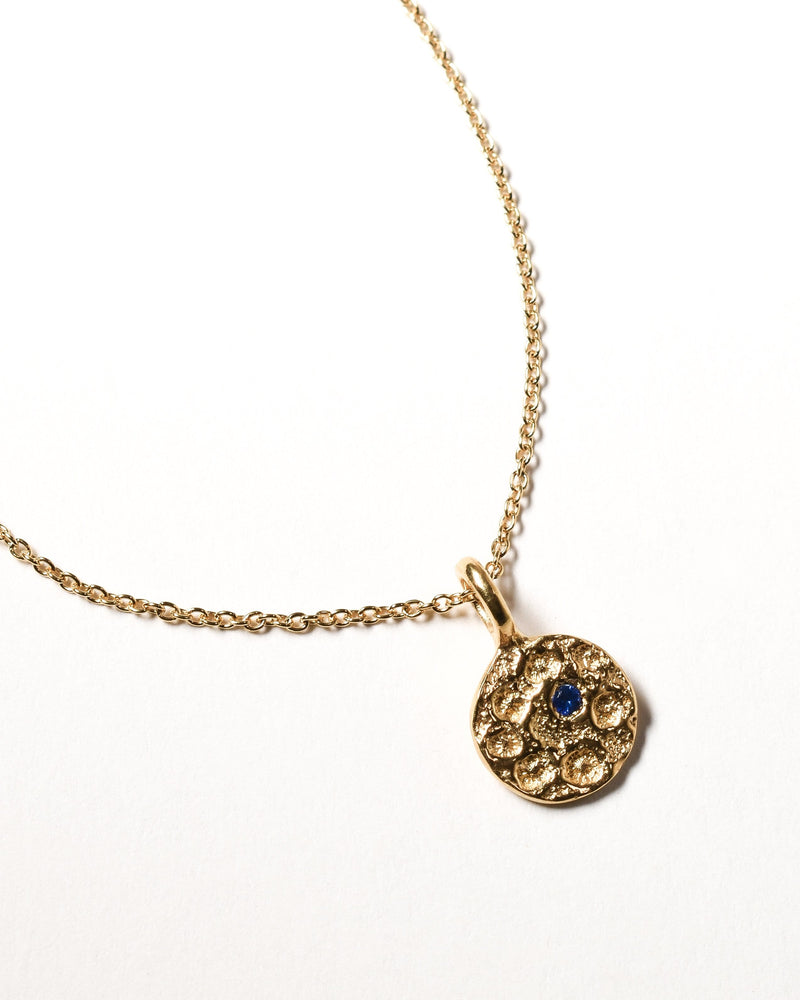Sapphire Birthstone Necklace - September - Yellow Gold