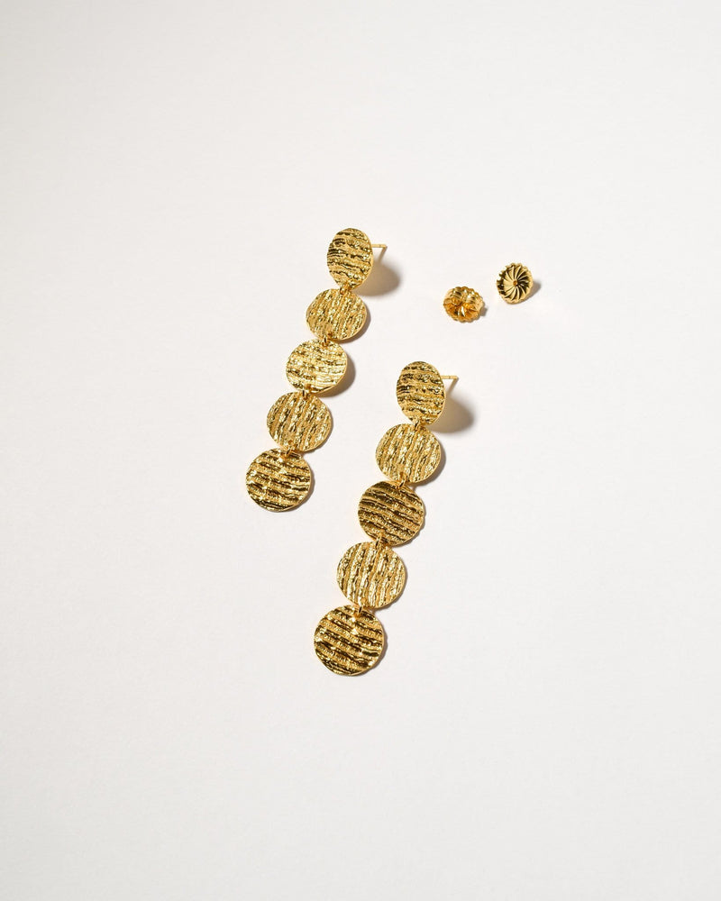 Curl Curl Earrings (Large), Yellow Gold Plated